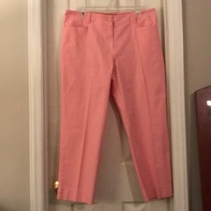 Size 14 - Talbots Perfect Cropped Pants /'Pink